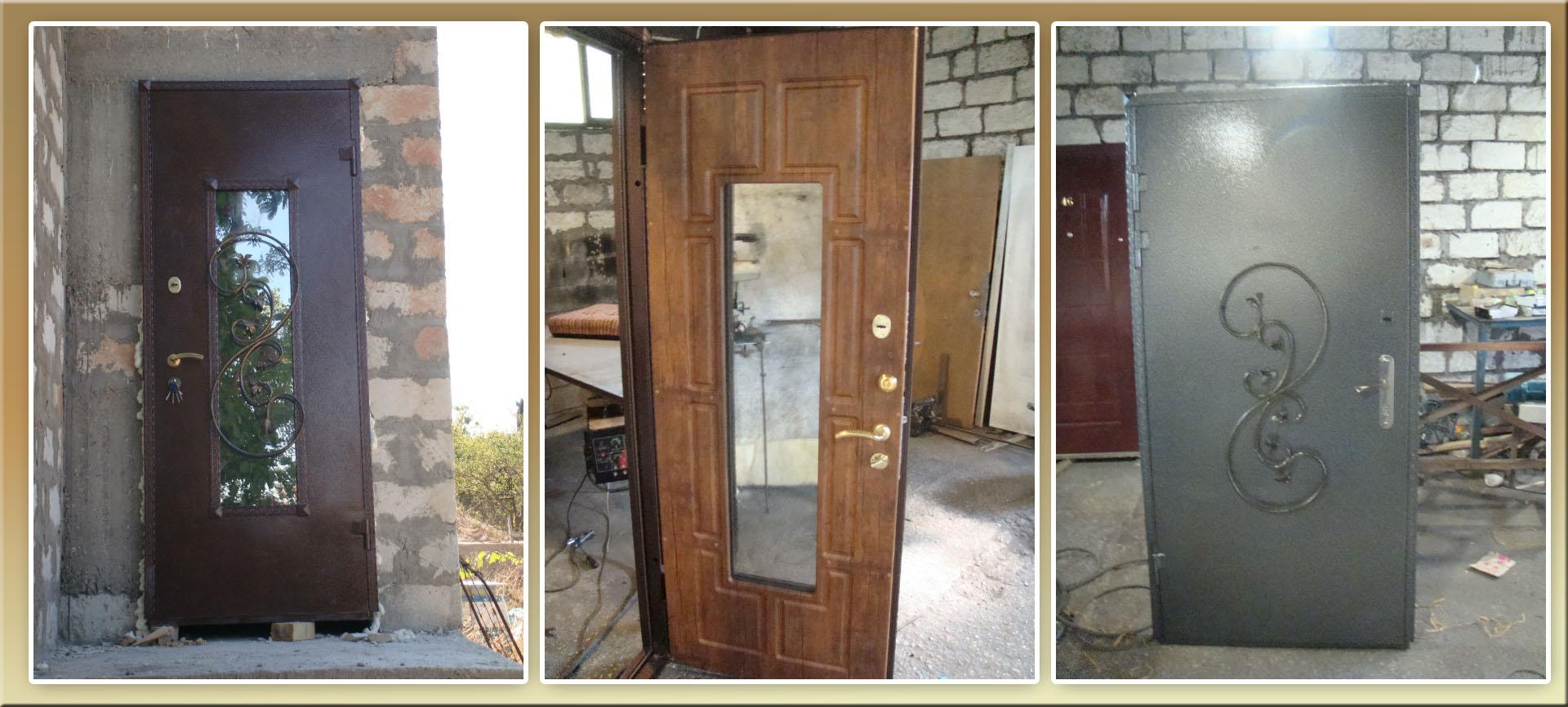 Самодельные металлические двери фото нашем