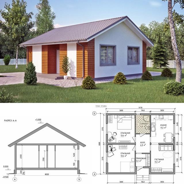Проект каркасного дома в Севастополе